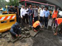 पालिका आयुक्त संजीव जयस्वाल यांनी केला रस्त्यांचा पाहणी दौरा, एका दिवसात बुजविले ११५० चौरस मीटरचे खड्डे
