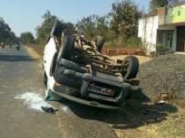 गडचिरोली जिल्ह्यात बैलाला वाचविण्याच्या प्रयत्नात चारचाकी वाहन उलटले