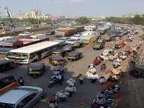 शेतकऱ्यांंनी दाखविले शांततेचे आणि शिस्तीचे दर्शन, मुंबईच्या वेशीवर शेतकऱ्यांचा एल्गार