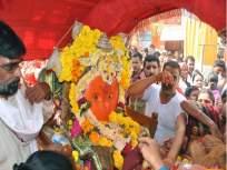 हजारो भाविकांनी घेतले योगेश्वरी देवीच्या पालखीचे दर्शन