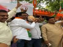 गुजरात निवडणूक निकाल- मुंबई भाजपा कार्यालयाबाहेर जोरदार जल्लोष