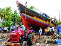 मुरुडमध्ये बोटी समुद्रात खेचण्याच्या कामांना वेग