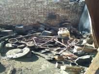 पूर्णा येथे शॉर्ट सर्किटने घराला आग लागून लाखोंचे नुकसान