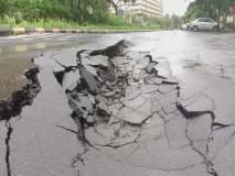 अबब... घोडबंदर भागात खचला तब्बल ५ किमी रस्ता, दुरुस्तीचे काम सुरु