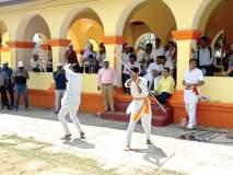 किल्ले सिंधुदुर्गचा ३५१ वा वर्धापन दिन साजरा, थरारक मर्दानी खेळांची सलामी