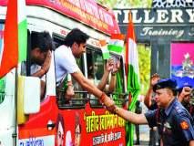 भारतभ्रमंती : शहीद स्वाभिमान यात्रेचे तोफखाना केंद्रात स्वागत 'राष्टÑपुत्र से हो सन्मान, मांग रहा हैं हिंदुस्तान...'