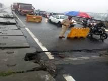 मुंबई - नाशिक महामार्गाला जोडणाऱ्या साकेत पुलाला तडे, दुरुस्तीचे काम सुरु
