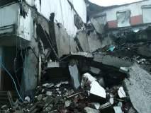 भिवंडीतील कारीवली ग्रामपंचायत हद्दीतील धोकादायक इमारत कोसळली, सुदैवाने जिवीतहानी टळली
