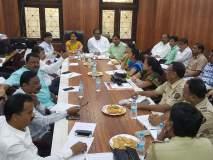 अंबरनाथमधील वाहतुक व्यवस्थेमध्ये नियोजन करण्यासाठी नगराध्यक्षांनी घेतली अधिका-यांची बैठक