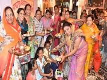धुळे येथील एकवीरा देवी मंदिरात १०१ कुमारिकेंचे पूजन