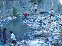 ठाण्यात नाल्यातील सफाई करुन फुलेनगरच्या तरुणांनी केले अनोखे आंदोलन