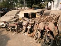 डोंबिवली वाहतूक पोलिस ठाण्यात भंगार वाहने