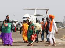 कोल्हापूर-मुंबई विमानसेवा अखेर सुरु, पहिले विमान झेपावले