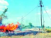 आगीत शेतीसाहित्याची राखरांगोळी