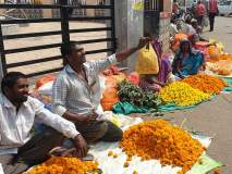 हिंगोलीत कवडीमोल दराने झेंडूच्या फुलांची विक्री
