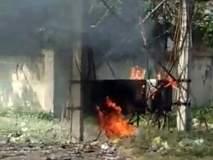 कुरुंदा येथे रोहित्राला अचानक लागली आग