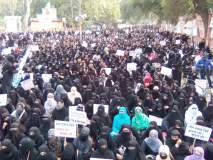 ट्रिपल तलाक विधेयकाच्या विरोधात नागपुरात मुस्लीम स्त्रियांचा विराट मोर्चा