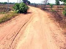बोरमाळा नदी घाट मार्ग धुळीने माखला