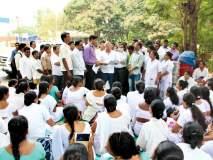 सिंधुदुर्ग : एनआरएचएमचे आंदोलन सुरुच, मनसेच्या शिष्टमंडळाने दिली भेट, माजी खासदारांनी केली चर्चा