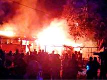 शेतकऱ्याच्या गोदामाला भीषण आग