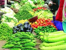 बाजारात फळभाज्यांची आवक वाढली