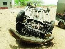 औरंगाबाद जिल्ह्यात कार-ट्रक अपघातात दोन ठार, एक गंभीर