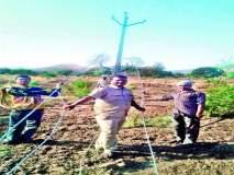 दळवट भूकंप प्रवण क्षेत्र : आदिवासी शेतकऱ्यांच्या आंदोलनाला यश वीजतारा बदलण्यास प्रारंभ