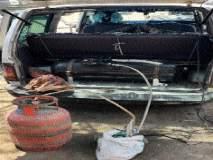कारमध्ये घरगुती गॅस भरताना तिघांना बेड्या