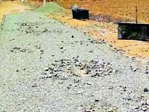 झापरवाडी ग्रामस्थांनी रस्त्याचे काम बंद पाडले