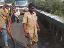 शिवाजी पुलावरील केबल पेटली,मधाचे पोळे उठल्याने वाहनधारकांची तारांबळ