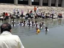 पाणी सोडण्यासाठी जलसमाधी जनआंदोलन