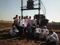 नेवासा तालुक्यातील खडका शेतक-यांचे बोंबा मारो आंदोलन