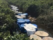 ठाण्याच्या देसाई गावातील गावठी दारुच्या अड्डयांवर राज्य उत्पादन शुल्क विभागाची धाड