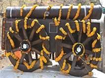 वेताळवाडी किल्ल्यावरील तोफेला स्कॉटलंड पद्धतीने बनविलेला तोफगाडा