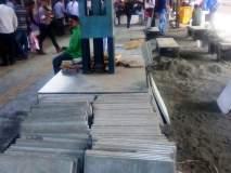 डोंबिवली स्थानकात धुरळयामुळे प्रवासी हैराण : फलाटांची उंची वाढवण्याच्या सामानामुळे धुळधाण