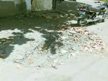 पंचवटीत ड्रेनेज सफाईनंतररस्त्यावर गाळ, माती पडून