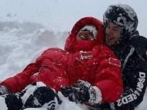 प्रियंका चोप्रा व निक जोनासने घेतला Snowfallचा आनंद, पाहा फोटो!!
