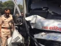 रुग्णवाहिकेला झालेल्या अपघातात 4 जण जखमी