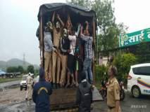 सिन्नर तालुक्यात पोलिसांनी अडवला आदिवासी विद्यार्थ्यांचा मोर्चा