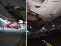 एअर इंडियाचं विमान संरक्षक भिंतीला धडकलं, मोठा अनर्थ टळला