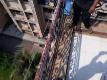 मनोरुग्णाने सहाव्या मजल्यावरून मारली उडी; नशीब बलवत्तर म्हणून बचावला