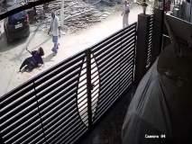 धक्कादायक... पतीने धावत्या गाडीतून पत्नीला फेकले, व्हिडीओ व्हायरल