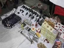 पाहा नाशिकमधून पोलिसांनी जप्त केलेला शस्त्रसाठा