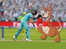 ICC World Cup 2019 : ...अन् कांगारूनं पायावर उभं राहत जोरदार ठोसे मारलेच!