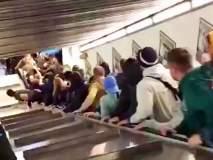 Video : लोक उभे असलेला सरकता जीना तुटला आणि....