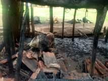 भिवंडीतील कुहे गावातील निवारा शेडच्या आगीत ११ बकऱ्यांचा मृत्यू