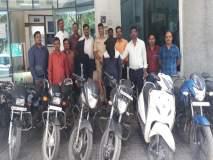 हिंजवडी परिसरातून मोटारसायकल चोरणाऱ्यादोघांना अटक , १५ दुचाकी जप्त