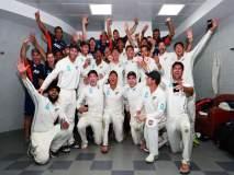 PAK vs NZ : पाकिस्तानला लोळवल्यानंतर न्यूझीलंडच्या खेळाडूंचा भांगडा