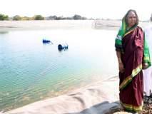 पावसाच्या पाण्याने बोरामणी येथील शेततळ्यात पावणेदोन कोटी लिटर पाणी भरले