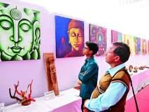 बुद्ध महोत्सव : कला प्रदर्शनात साकारले बुद्धकालीन सुवर्ण युग